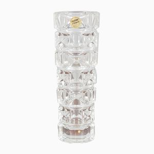 French Mid-Century Crystal Vase from Cristal d'Arques