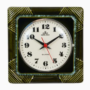 Ceramic Wall Clock from Meister-Anker, 1970s