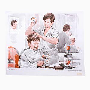 Wall Chart of a Barber Shop Part 3, 1972