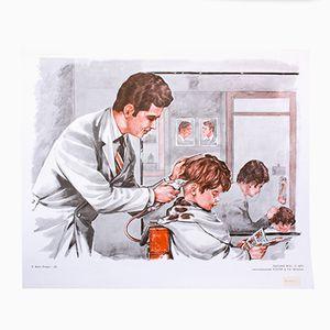 Wall Chart of a Barber Shop Part 2, 1972