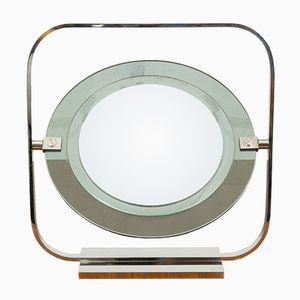 Miroir de Courtoisie Vintage en Chrome & Verre par Christian Dior