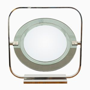 Vintage Chrome & Glass Vanity Mirror by Christian Dior