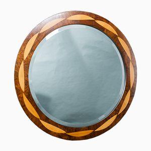 Runder Plexus Spiegel mit Intarsie von Toby Winteringham