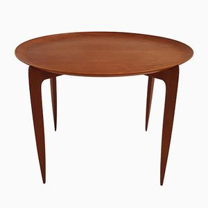 Mid-Century Round Teak Table by Bode Willumsen for Fritz Hansen