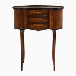 Antique French Louis XVI-Style Kidney End Table
