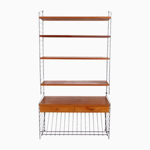 Teak Shelving Unit by Nils Nisse Strinning for String, 1960s