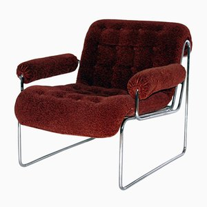 Sessel mit Gestell aus Stahlrohr von Sonett, 1960er