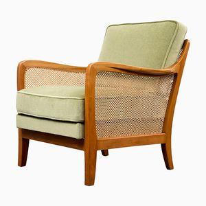 Sessel mit Bastgeflecht, 1950er