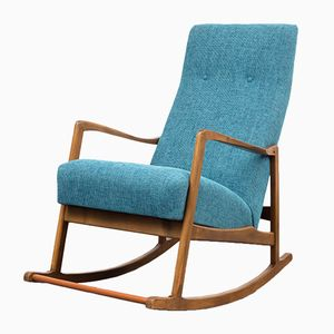 Rocking Chair with Solid Wood Frame, 1950s