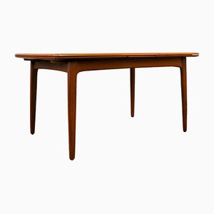 Mid-Century Extendable Teak Dining Table by Svend Aage Madsen for K. Knudsen & Son