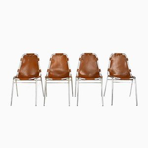 Les Arcs Chairs by Charlotte Perriand, 1970s, Set of 4