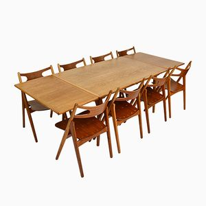 AT312 Dining Room Set by Hans J. Wegner for Andreas Tuck and Carl Hansen & Søn