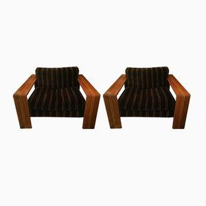 Artona Lounge Chairs by Tobia Scarpa for Maxalto, 1970s, Set of 2