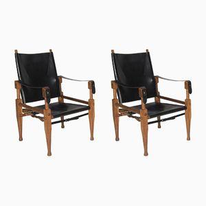 Safari Chairs by Wilhelm Kienzle for Wohnbedarf, 1950s, Set of 2