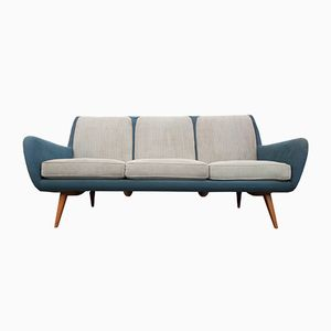 Sofa in Pigeon Blue-Light Gray, 1950s