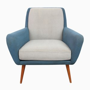 Armchair in Pigeon Blue-Light Gray, 1950s