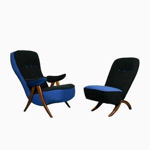 Poltrone modelli 107 e Congo Mid-Century di Theo Ruth per Artifort, set di 2