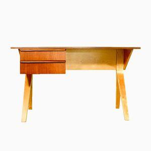 Vintage EB02 Schreibtisch aus Teak & Buche von Cees Braakman für Pastoe