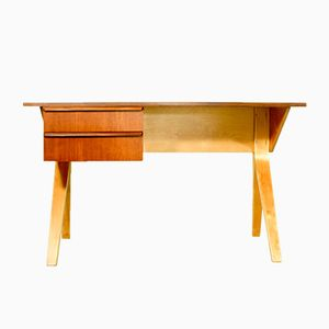 Vintage EB02 Teak and Birch Desk by Cees Braakman for Pastoe