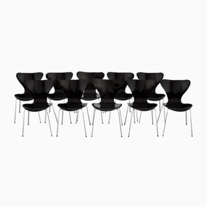 3107 Series Butterfly Chair by Arne Jacobsen for Fritz Hansen, 1968, Set of 10