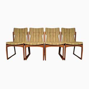 Mid-Century Dining Room Chairs from Vamdrup Stolefabrik, 1960s, Set of 4