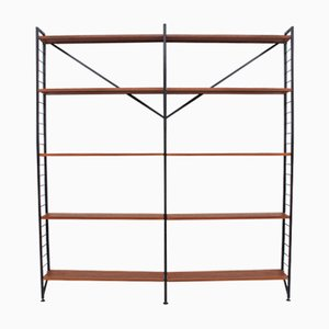 Vintage Ladderax Teak and Metal Bookshelf by Robert Heal for Staples, 1960s