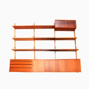 Large Teak Wall Unit by Poul Cadovious for Royal System, 1960s