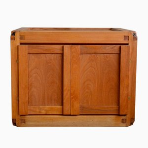 French Vintage Elm Cabinet by Pierre Chapo, 1960s