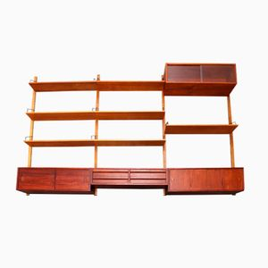 Large Wall Unit in Teak by Poul Cadovius for Royal System, 1960s