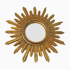 Vintage Gilded Sunburst Mirror from Geratal, 1960s
