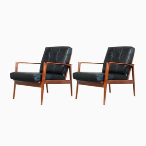 Cherry Easy Chairs from Knoll, 1960s, Set of 2