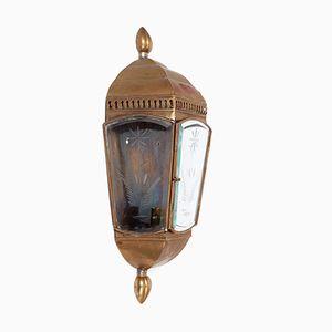 Englische Vintage Messing Wandlampe