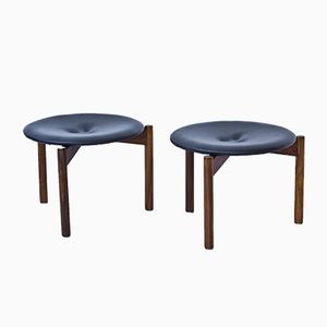 Stools by Uno & Östen Kristiansson for Luxus, 1960s, Set of 2