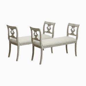Sitzbänke, 19. Jh., 2er Set