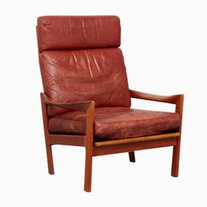 Mid-Century Highback Chair by Illum Wikkelsø for Niels Eilersen