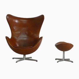 Egg Chair und Ottoman von Arne Jacobsen für Fritz Hansen, 1966
