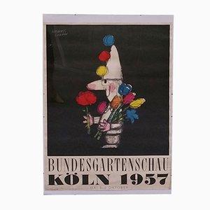 Poster Bundesgartenschau Köln di Herbert Leupin, 1957