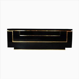 Lacquered Brass Sideboard by JC Mahey for Roche Bobois, 1970s