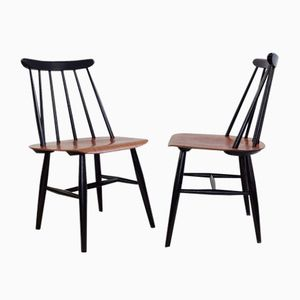 Fanett Teak Chairs by Ilmari Tapiovaara, 1960s, Set of 6