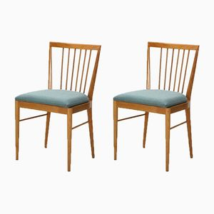 Vintage Spoke Back Dining Chairs, 1950s, Set of 2