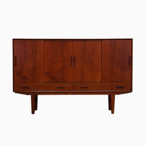 Danish Highboard with Bar Cabinet