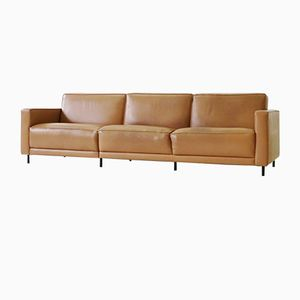 Large Vintage Leather Sofa by Kaufeld Haussmann for de Sede