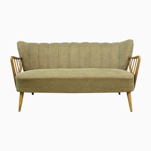 Mid-Century Corduroy Cocktail Sofa, 1950s