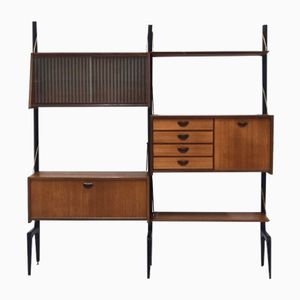 Vintage Teak Wall Unit by Louis van Teeffelen for WéBé, 1950s