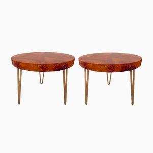 Bouts de Tables en Résine Fractale par Accolay, France, 1960s, Set de 2