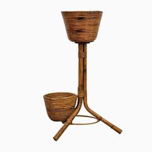 Porte-Fleur en Bambou Vintage
