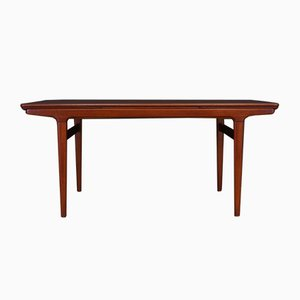 Vintage Danish Table in Teak Veneer by Johannes Andersen for Uldum