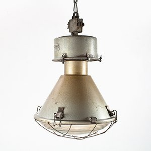 Large Eastern European Industrial Pendant in Hammer Finish, 1960s