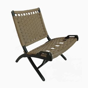 Vintage Rope Folding Chair by Ebert Wels