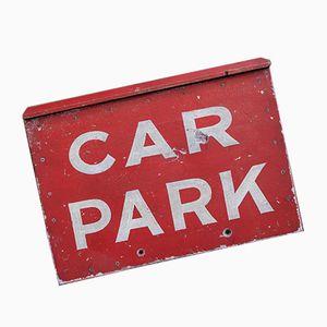 Insegna vintage di parcheggio dipinta a mano, anni '50